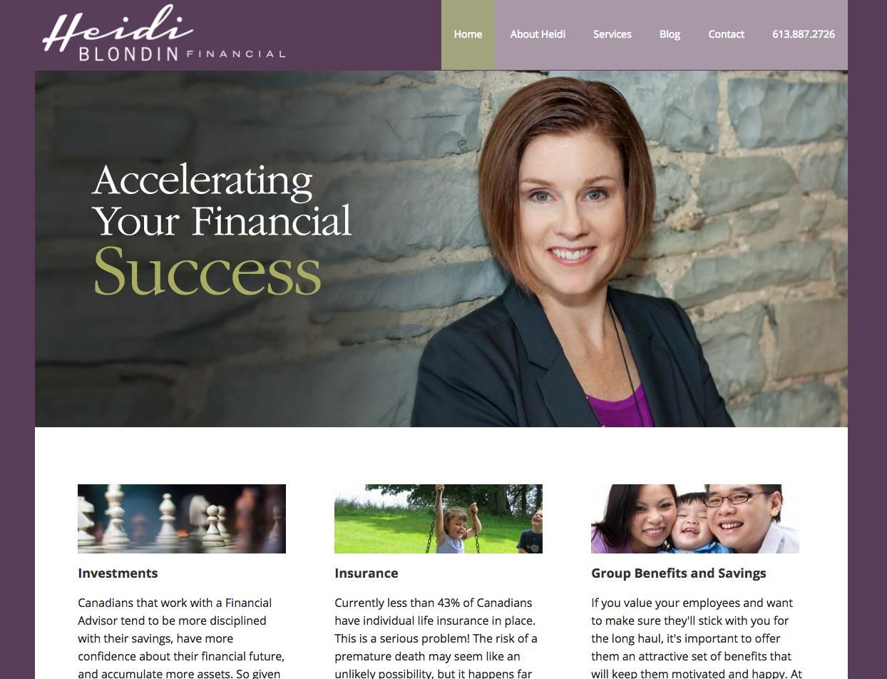 Financial Advisor Website - Martin Marketing