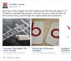 Carousel Facebook Ad Example