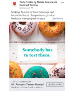 Facebook Marketing Ad Example